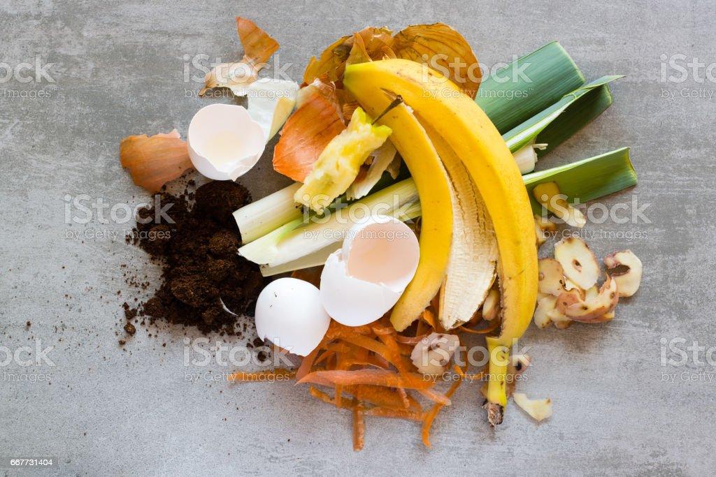 Organic waste to make compost stock photo