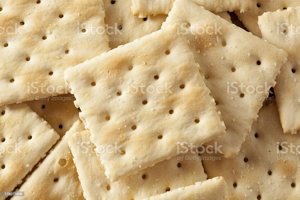 Organic Whole Wheat Soda Crackers royalty-free stock photo