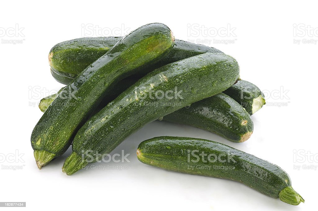 Organic Zucchini Courgette royalty-free stock photo