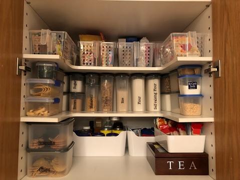 Organised pantry items
