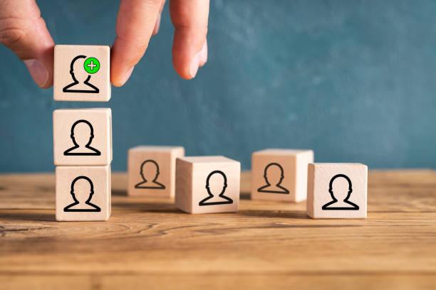 estructura de organización y equipo simbolizada con cubos - miembro parte del cuerpo fotografías e imágenes de stock