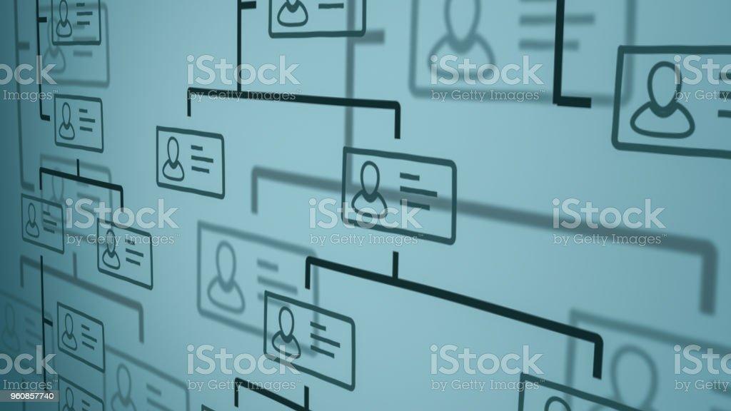 organization chart concept royalty-free stock photo