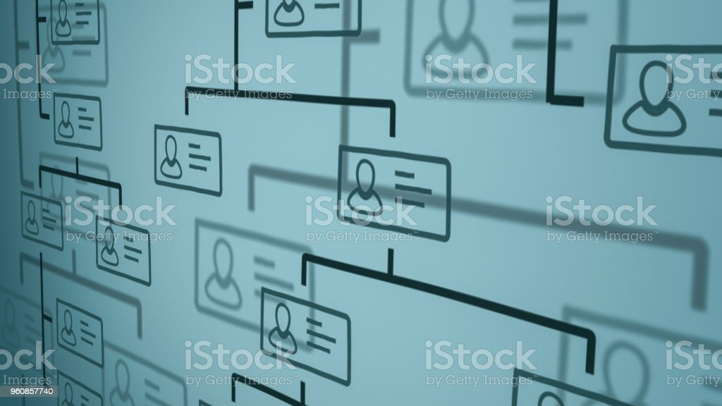 organization chart concept stock photo