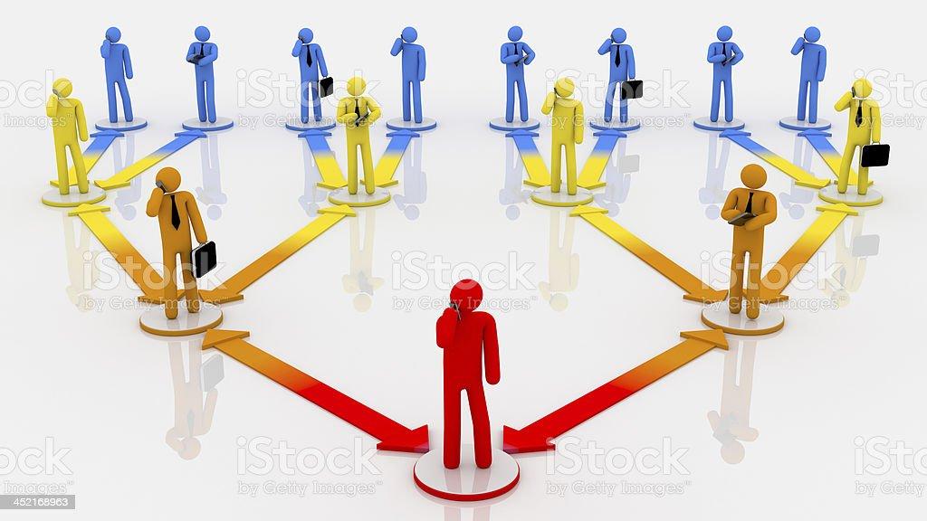 Organization chart. Multicolored. White background. royalty-free stock photo