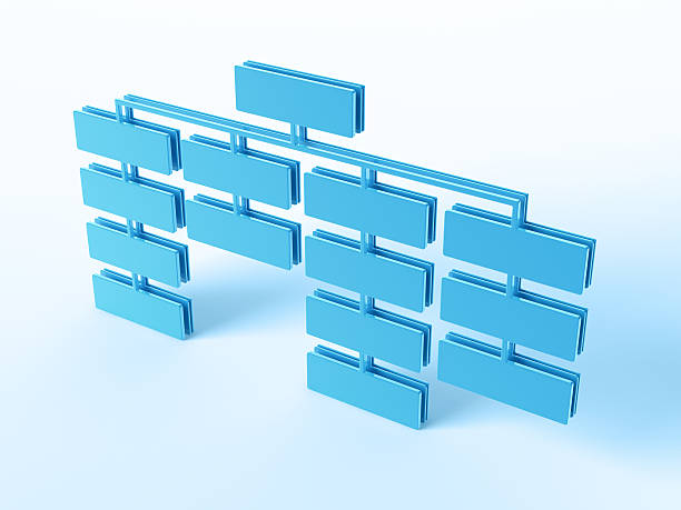 Organization Chart 3D Render of a blue Organization Chart with blank fields. Very high resolution available! Use it for Your own composings!Related images: abstract 3d stock pictures, royalty-free photos & images