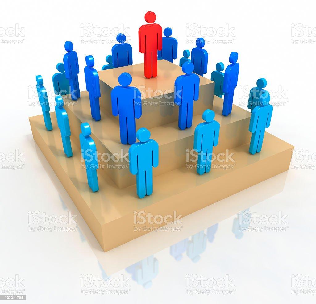 Organization pyramid stock photo