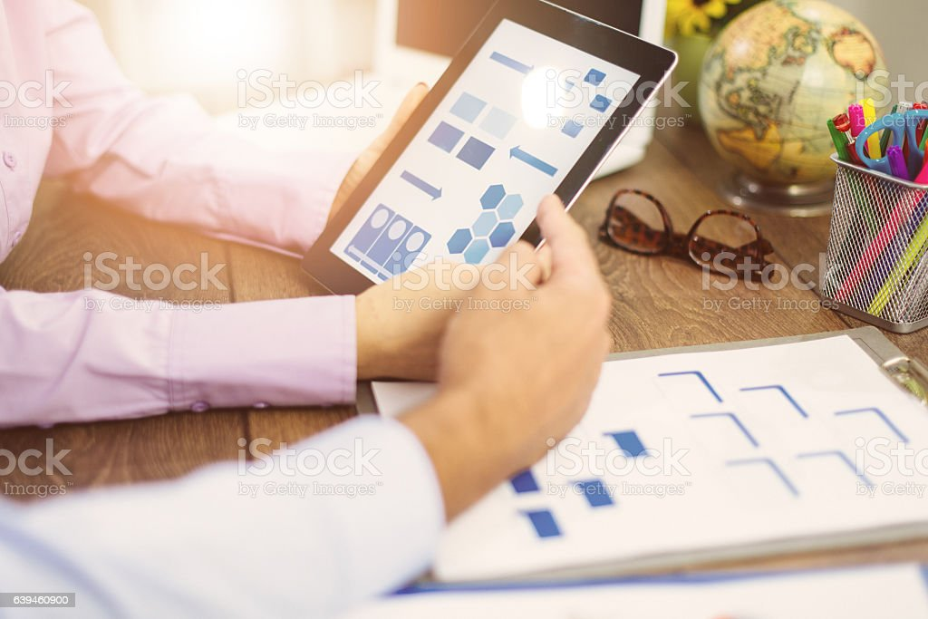Organization structure in modern companies stock photo