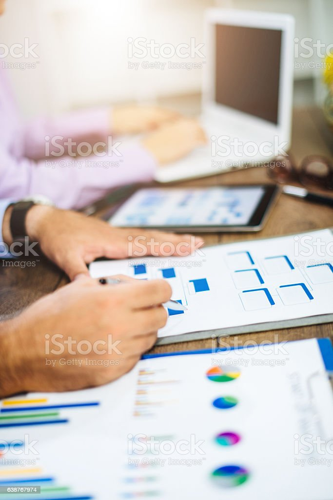 Organization structure of global leader in industry stock photo
