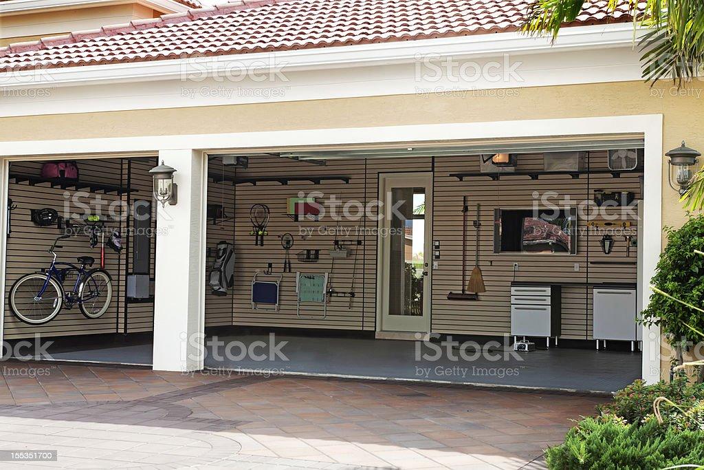 Organization: Well organized garage royalty-free stock photo