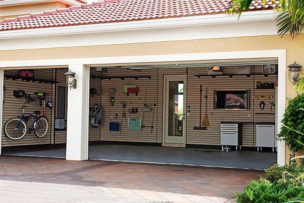 organisation: gut organisiert garage - carport stock-fotos und bilder