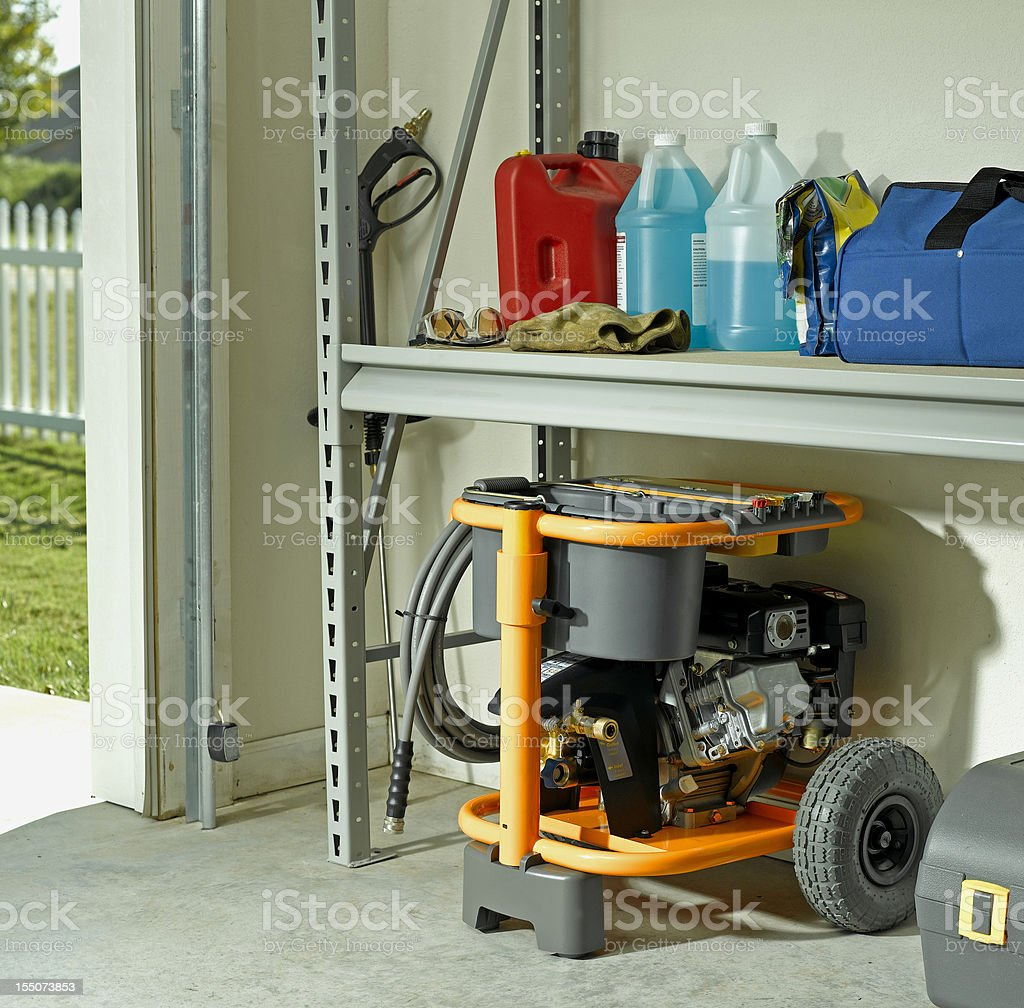 Organized Garage stock photo