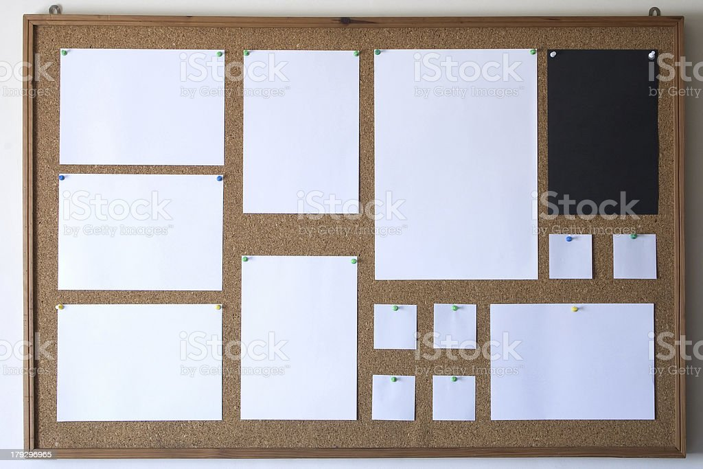Organized messages royalty-free stock photo