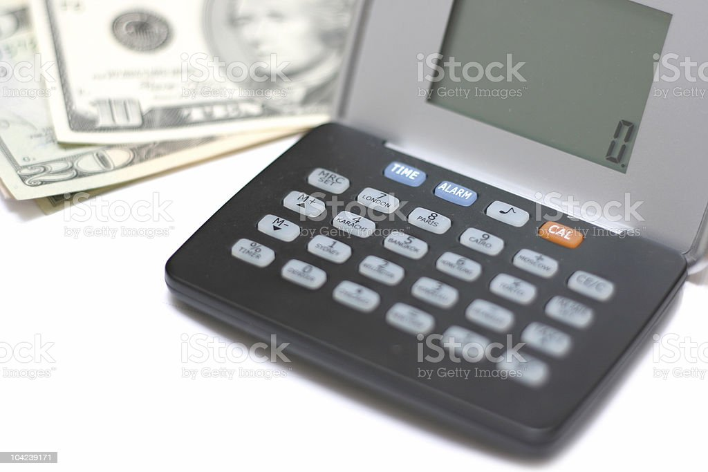 Organizing Finances royalty-free stock photo