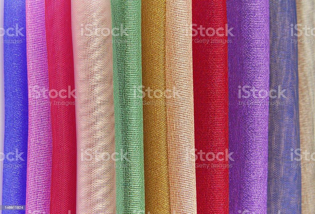 organza fabric sampler royalty-free stock photo