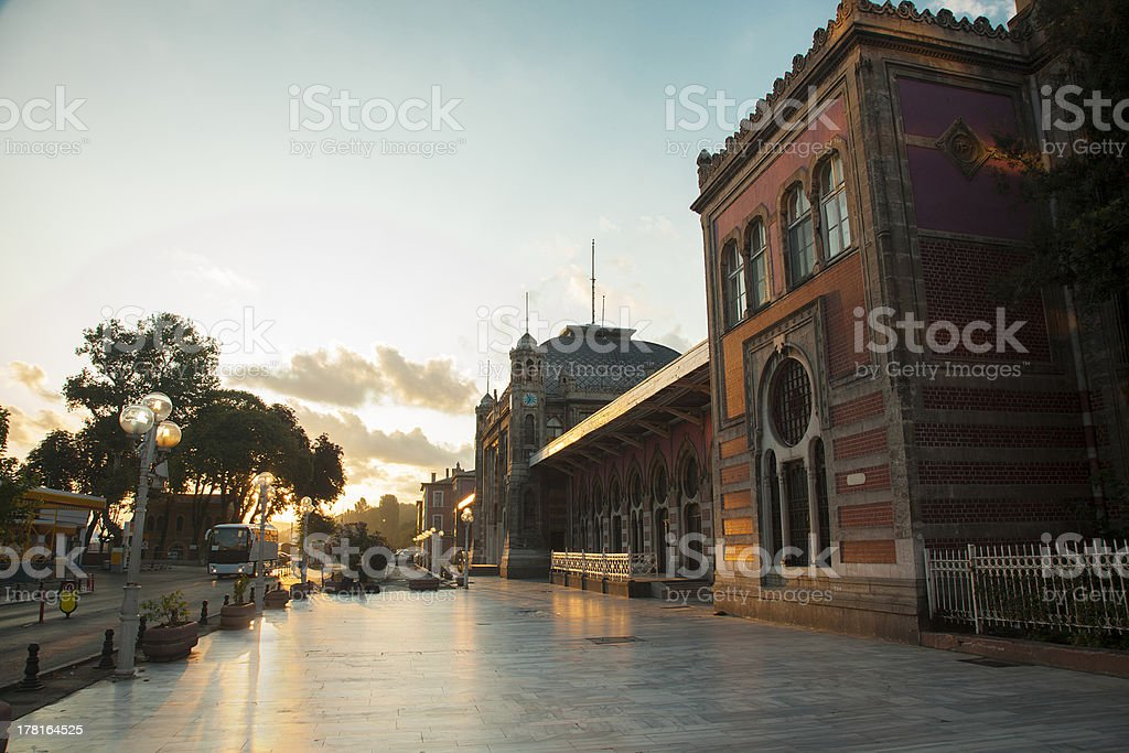 Orient Express Station in Istanbul at sunset stock photo