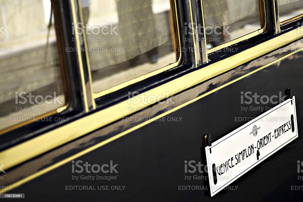 Orient Express train stock photo