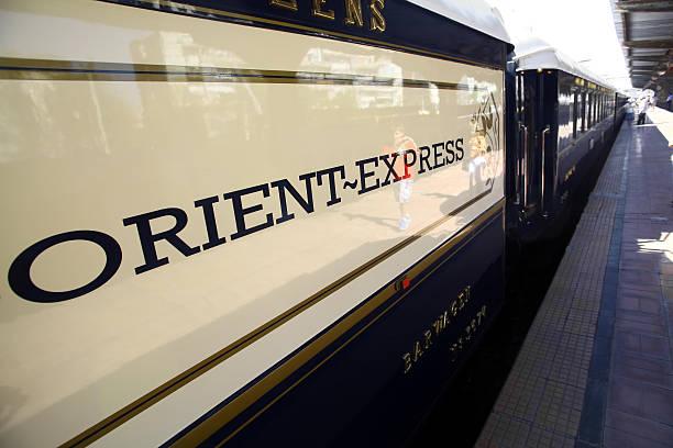 Orient Express train stock photo