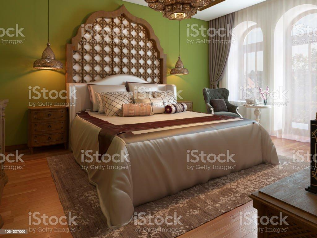 Orientalisches Schlafzimmer Im Arabischen Stil Mit Einem ...