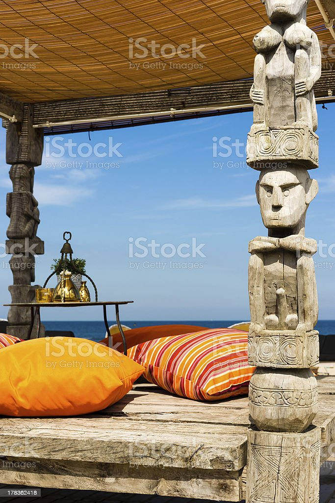 Oriental Canopy on a beach royalty-free stock photo