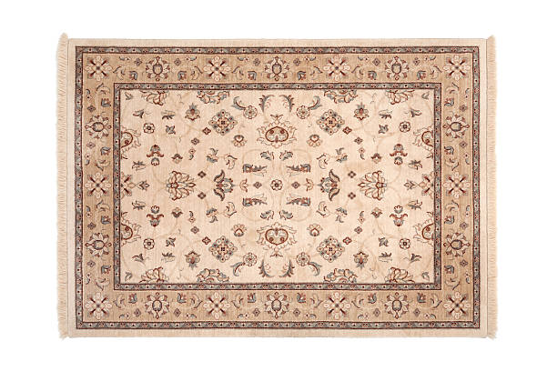 Oriental Carpet Ancient carpet isolated on white persian culture stock pictures, royalty-free photos & images