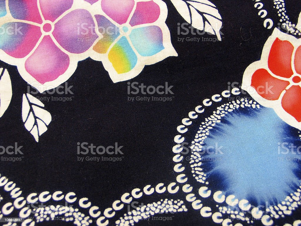 Oriental Fabric stock photo