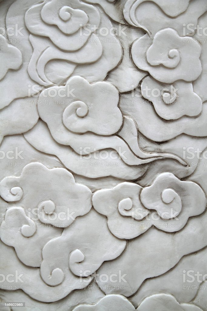 Oriental flower pattern stock photo