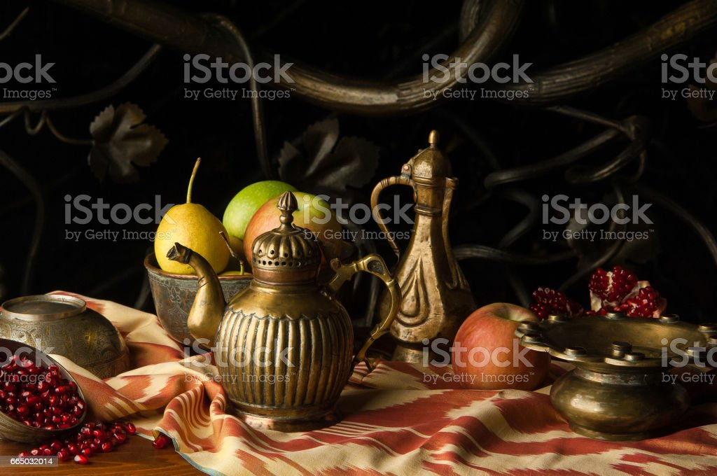 oriental fruit stock photo
