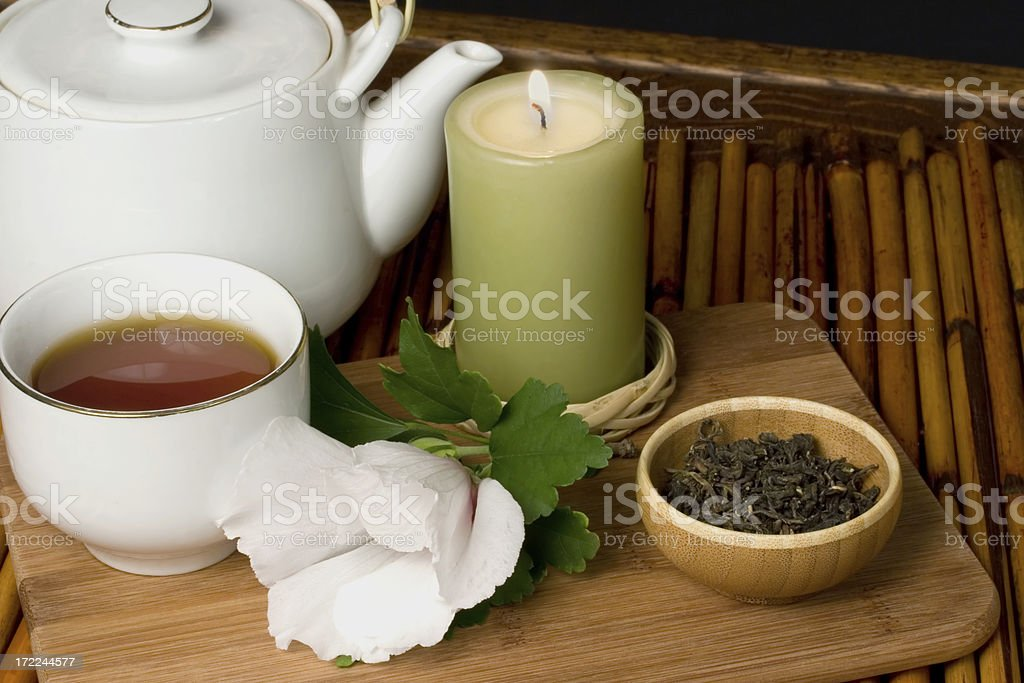 Oriental green tea royalty-free stock photo