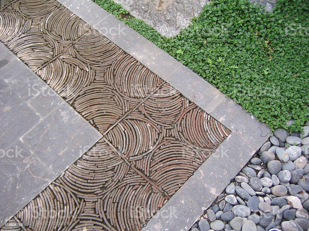 Oriental Ground Textures, China stock photo