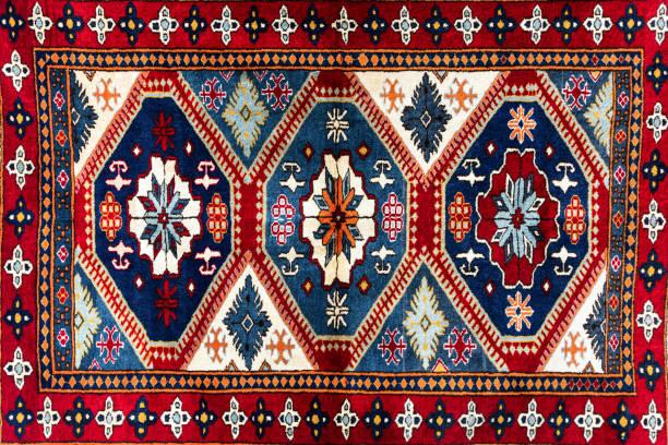 handgemachte orientteppich - teppich geometrisch stock-fotos und bilder