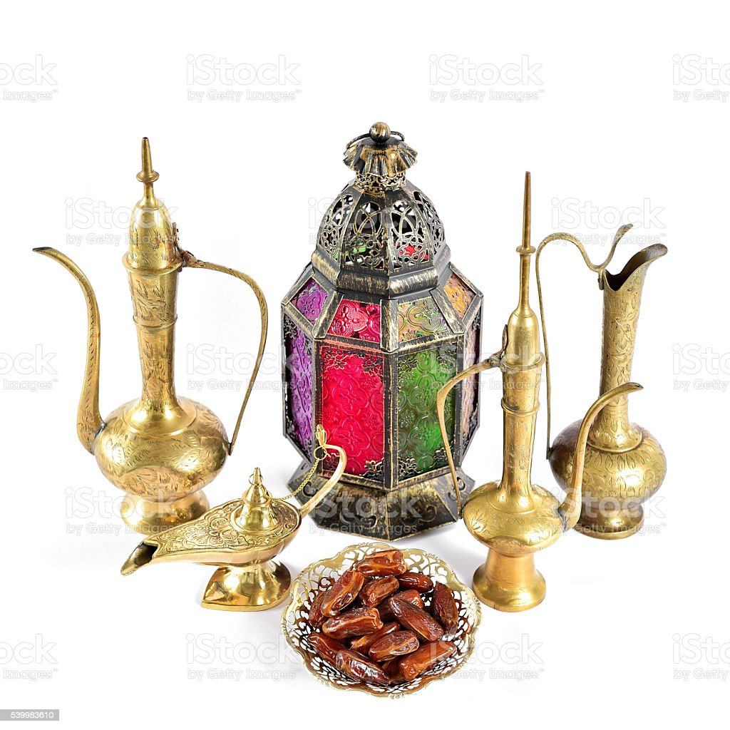 Oriental holidays decoration Islamic hospitality Ramadan stock photo