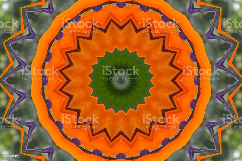 Oriental kaleidoscope fractal stock photo