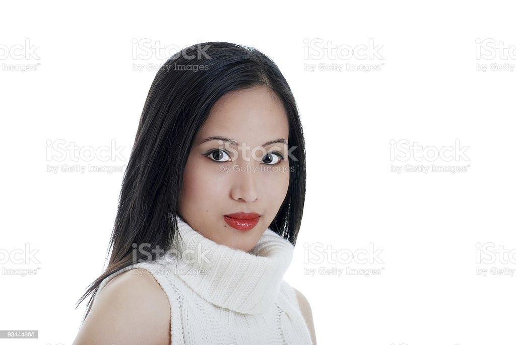 Orientalische lady Isoliert Lizenzfreies stock-foto