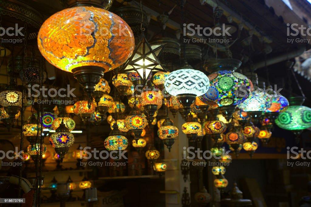 Oriental lamp stock photo