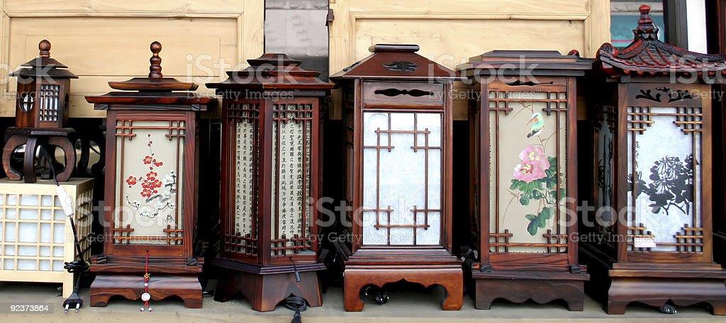 Orientalische Lampen Lizenzfreies stock-foto