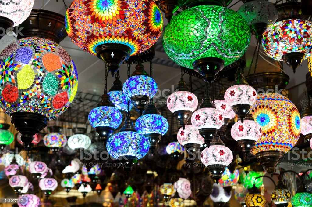 Oriental lanterns stock photo