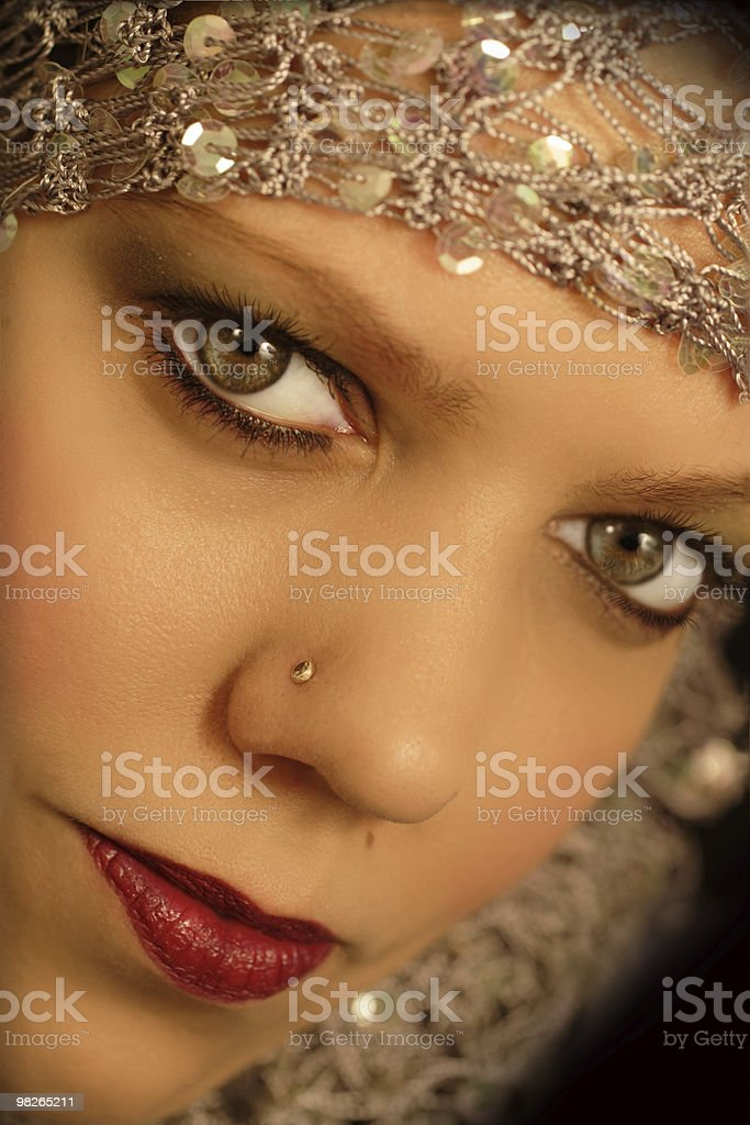 Oriental looking woman royalty-free stock photo