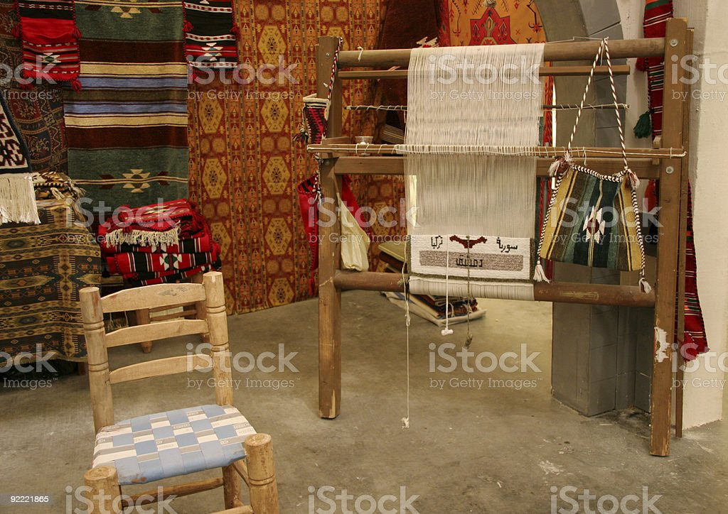 Oriental loom stock photo