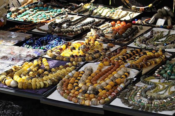 Oriental market stock photo