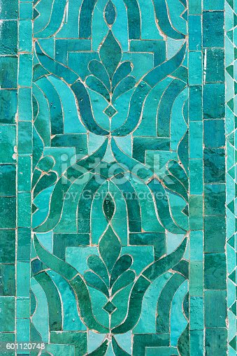 istock Oriental mosaic in green colours. 601120748