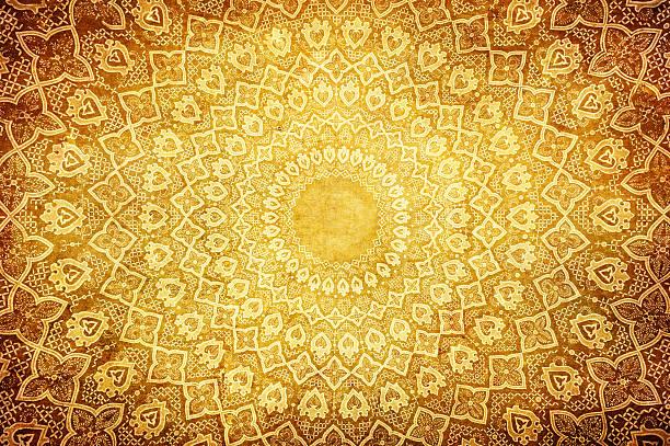 grunge hintergrund mit orientalischen ornamenten - arabeske stock-fotos und bilder