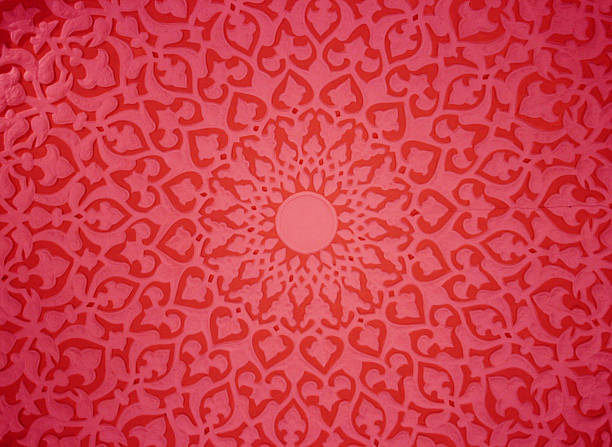 Oriental ornaments Oriental ornaments,plaster ceiling,red version plaster ceiling design stock pictures, royalty-free photos & images