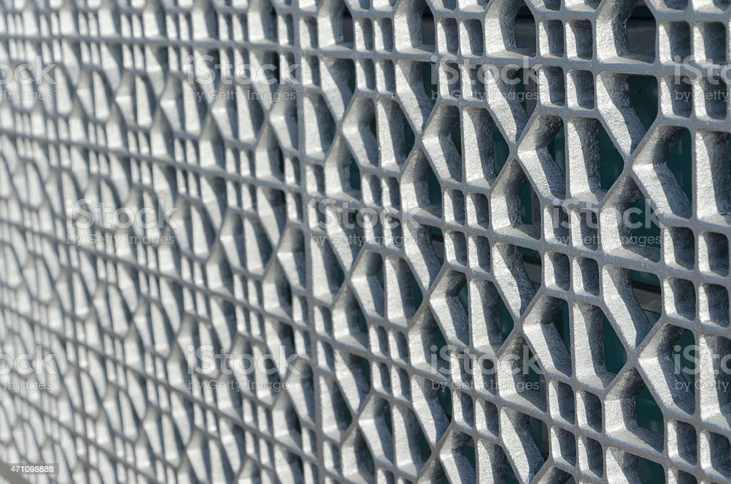 Oriental pattern on mosque wall, Dubai stock photo