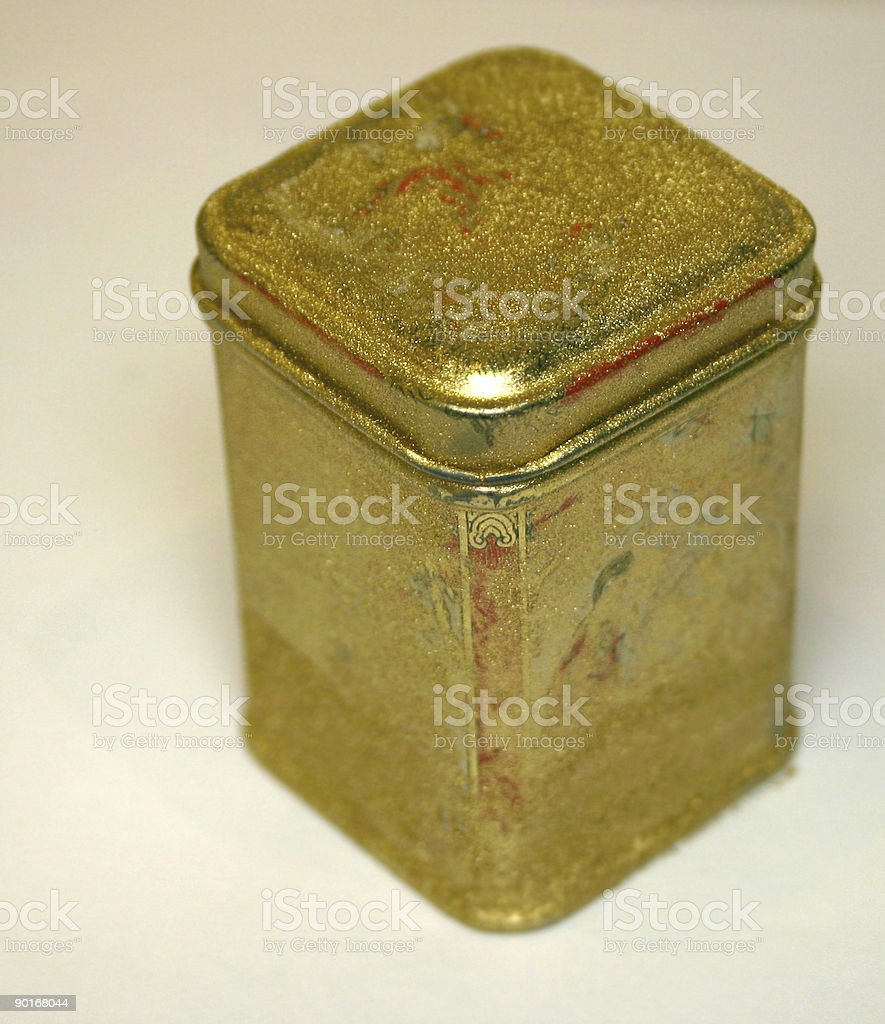 oriental patterned tin covered in gold dust stock photo more