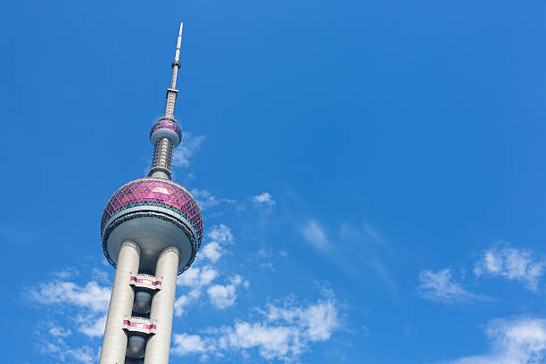 Oriental Pearl Tower in Shanghai, China – Foto