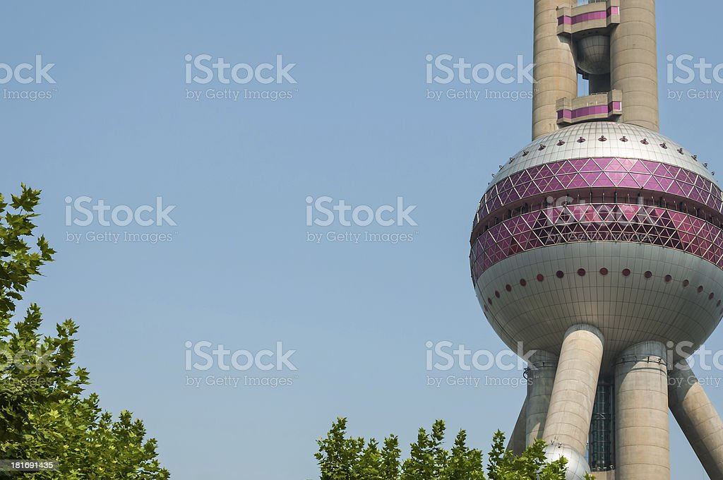 Oriental Pearl Tower royalty-free stock photo