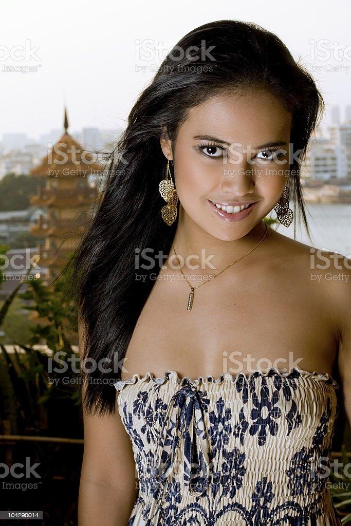 Oriental Portrait royalty-free stock photo