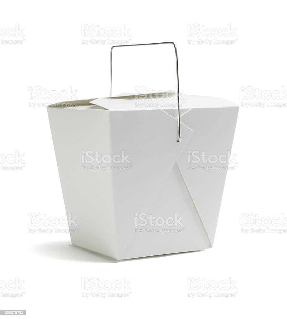 Oriental Restaurant Takeaway Box stock photo