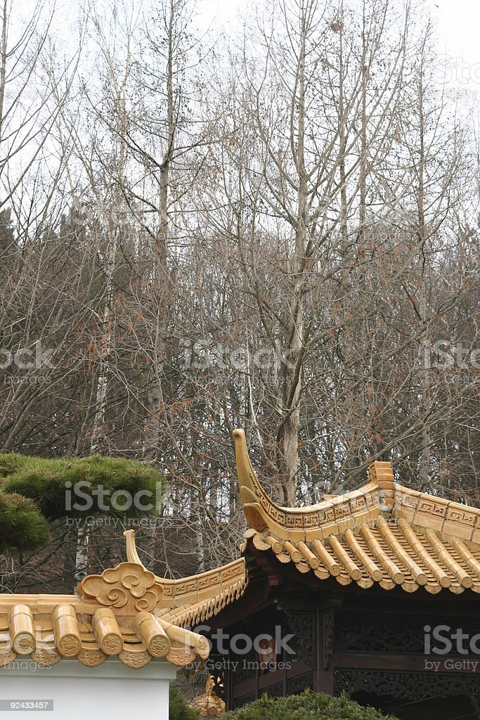 oriental roof royalty-free stock photo