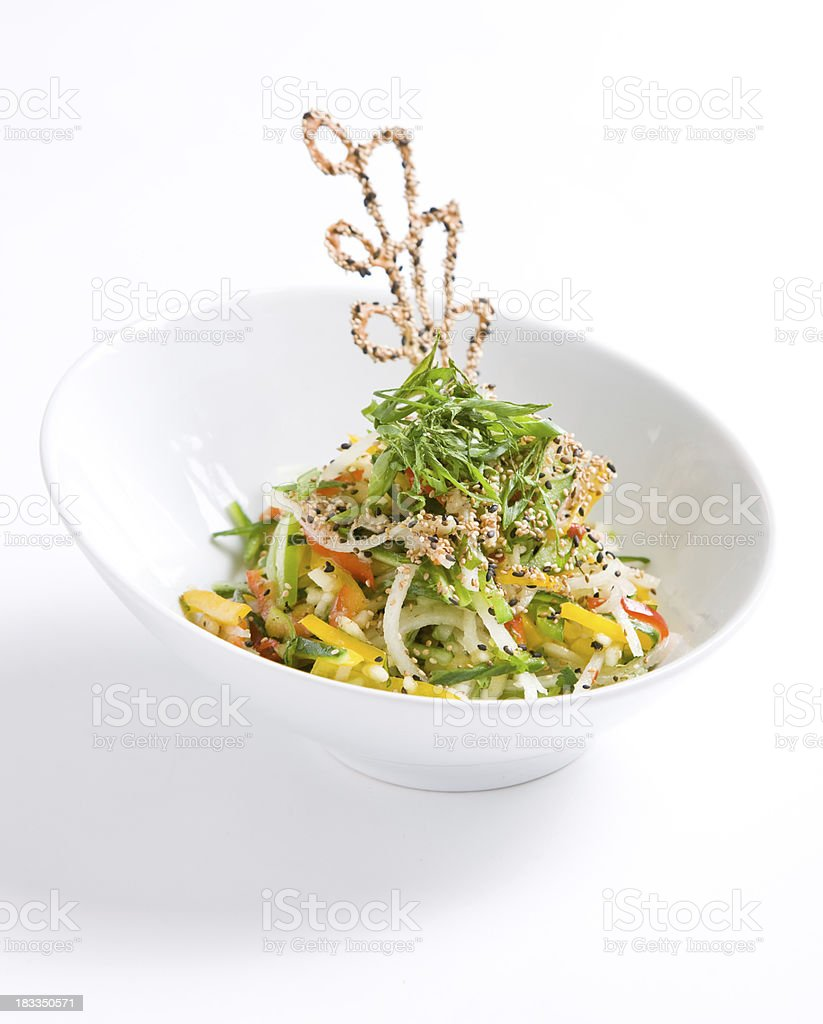 Oriental Slaw stock photo